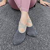 JKCTOPHOME Calcetines Antideslizantes para Mujeres,Calcetines de Yoga de sección Delgada Transpirables con Fondo Suave-Gray_Code,Ideales para Yoga