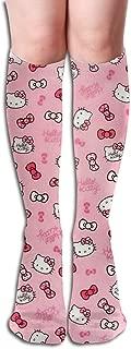 JINUNNU Knee High Tube Socks Hello Kitty Funny Dress Socks for Girl Women