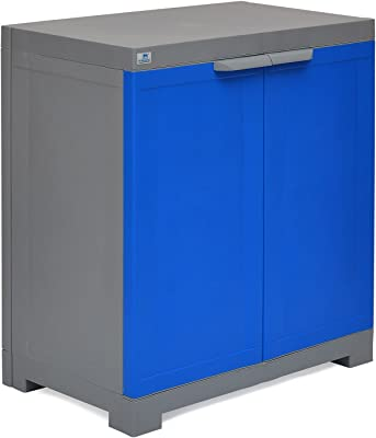 Nilkamal Freedom Mini Small (FMS) Plastic Storage Cabinet (Deep Blue & Grey)