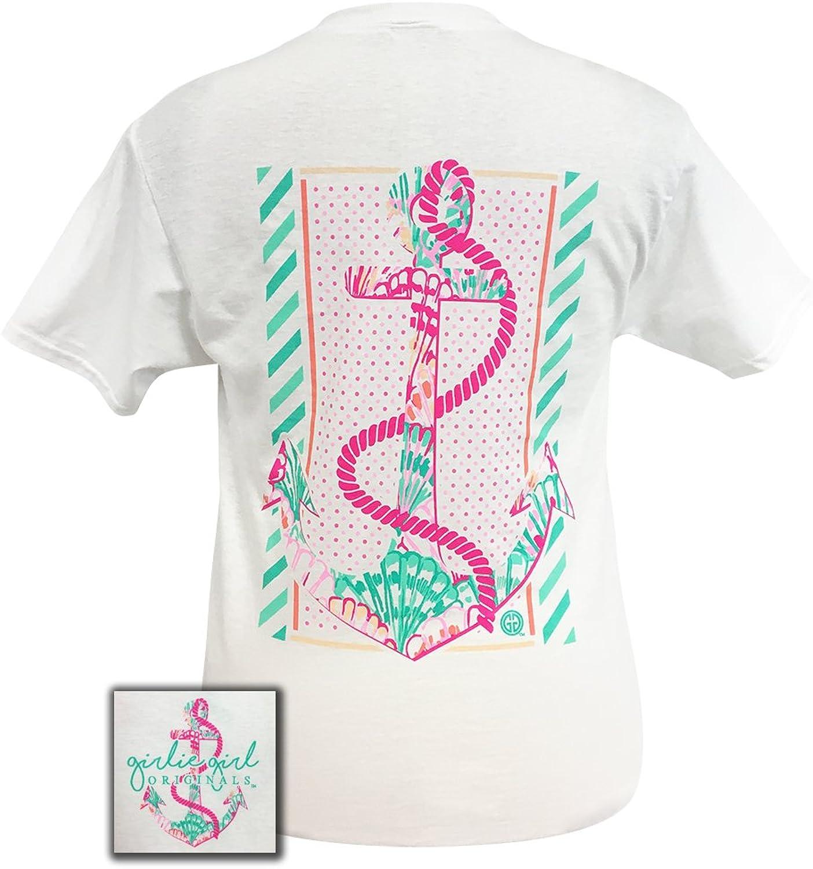 Girlie Girls Preppy Rope Anchor Short Sleeve TShirt Adult
