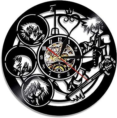 YUN Clock@ Kingdom Hearts Horloge Pendule Murale Vinyl Records - 3D Style Retro Familles Chambre Décoration Superbe idée de C