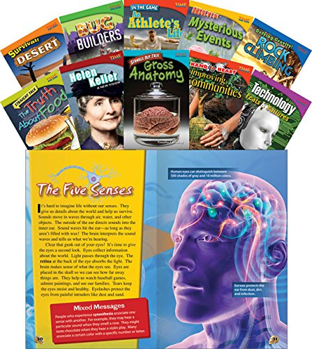 Teacher Created Materials - TIME For Kids Informational Text: Set 1 - 10 Book Set - Grade 4 - Guided Reading Level Q - S