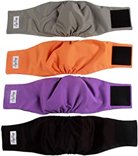JoyDaog Reusable Belly Bands for Small Dog Diapers Male Washable Puppy Wrap Pack of 3