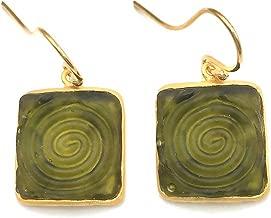 Michael Vincent Michaud Glass Wire Earrings #1116D