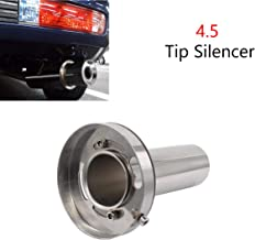 4.5'' Adjustable Stainless Steel Round Exhaust Muffler Tip Removable Silencer Inner Silence