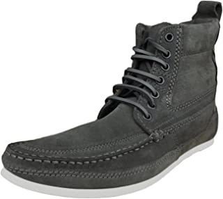 Henleys Men's Smokie Suede Leather Casual Boots Charcoal