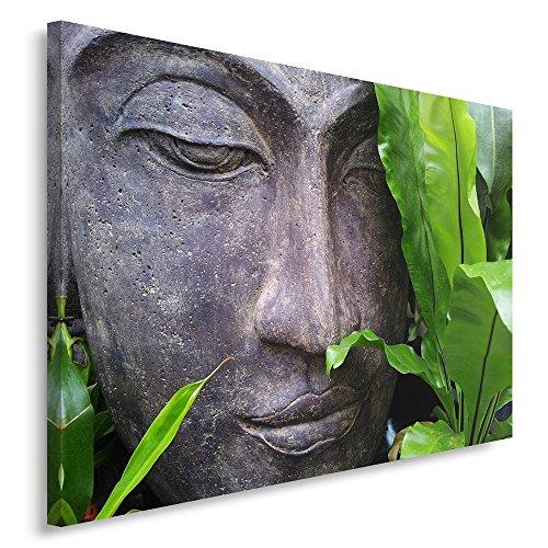 Feeby. Cuadro en lienzo - 1 Parte - 50x70 cm, Imagen impresión Pintura decoración Cuadros de una pieza, BUDA, ZEN, CULTURA, RELIGIÓN, GRIS