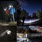 LED Taschenlampe, Vansky® Handlampe Tactical Flashlight Handlampe Justierbare Fokus-Summen Taschenlampen für Outdoor Sports, 3 x AAA Batterien im Lieferumfang enthalten - 4