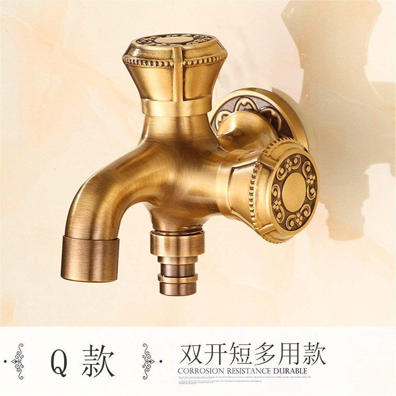 Copper Kitchen Single Cold Tap Lengthen Into Wall Retro Faucet O (color   Q)