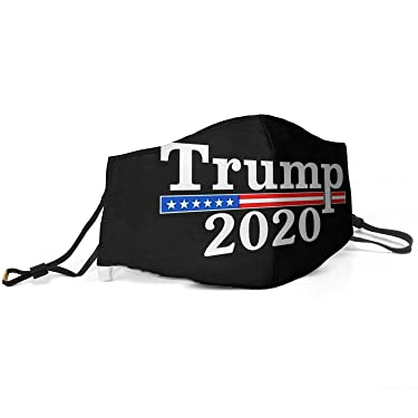 Women Men Face Cover Cover Muffle Anti Dust Mouth Donald Trump 2020 Decal Printed with Adjustable Earloop Face-Mask