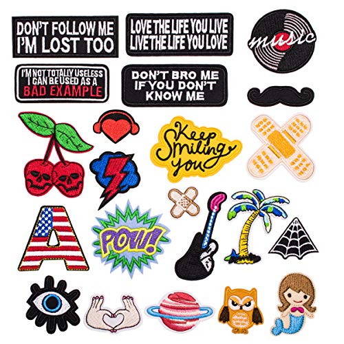 Dozens of Sets Available Clothes Patches, Patches, Patch, Fashion Patterns, Pants, Decorations, Patches, Holes, Embroidery, Children's Decals (22PCS-RF-21)