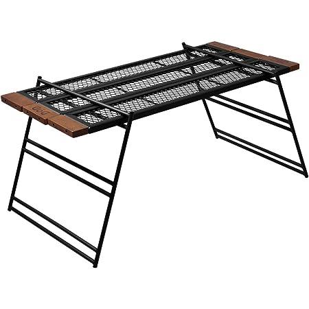 DOD(ディーオーディー) テキーラテーブル 焚き火の上で使用可能 ワンバイ木材でカスタム可能 TB4-746-BK