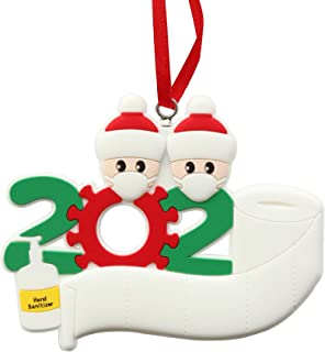 Best Christmas Tree Ornaments 2020 Party Decorations with Ribbon Creative Gift Product for 1-7 Family Members and Friends(White, 2) Review