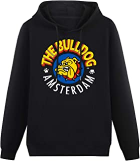SUANNI Casual The Bulldog Amsterdam Printed Graphic Hoodies Pullover Sweatshirs HeavyweightHooded