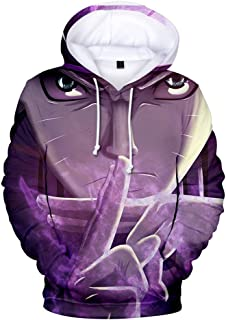 Cute Naruto Shippuden 3D Print Pullover Hoodie Sweatshirt with Kangaroo Pocket Unisex Youth Pull-Over Hooded for Boys and Girls
