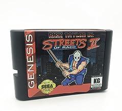 Royal Retro Rick Taylor dans Street Of Rage 2 pour console de jeux vidéo Sega Genesis et Mega Drive 16 bits (noir)