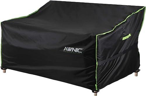 Awnic Funda para Banco de Jardín Patio Impermeable UV Resistente (Poliéster, Banco de 3 Plazas 160cm)