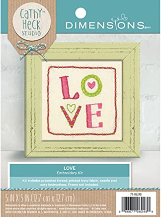 df8251dfd Dimensions Love Embroidery Kit by Cathy Heck Studio 5'' ...
