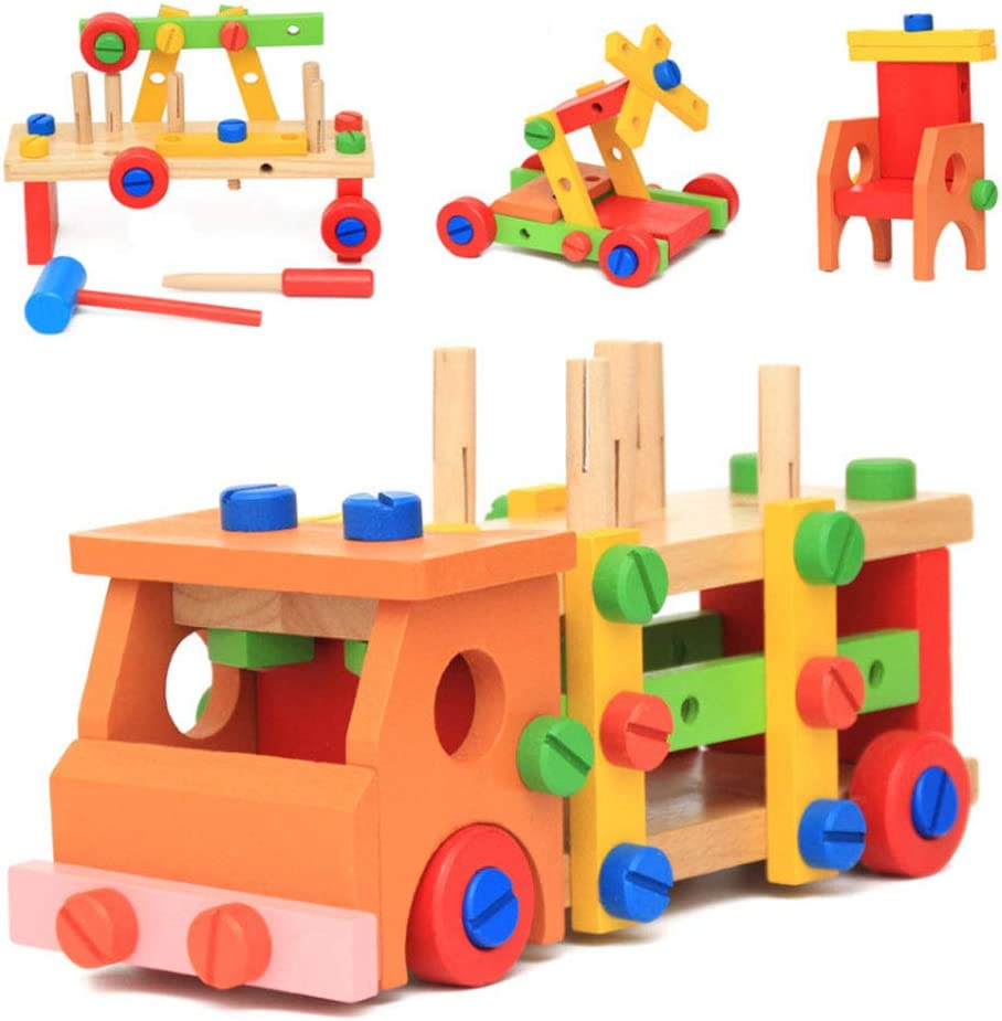 KELEQI famous Free shipping Wooden Children's Toy Assemb Disassembly and Intelligence