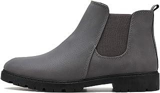 FUNPLUS Chelsea Bottes Hommes Mode Bottines décontractées en Cuir Chaussures Formelles Haut de Gamme Portable sans Lacet B...