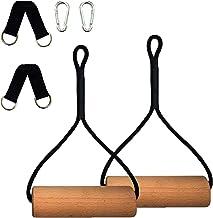 Suwei Gymnastiekringen van hout met gespen riemen oefening gym ringen Athletic ringen voor spieropbouw, buikspiertraining,...