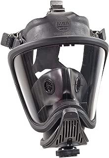 MSA 493020 Ultra Elite Full Facepiece Hycar Respirator, Capacity, Volume, Hycar, Medium, Black