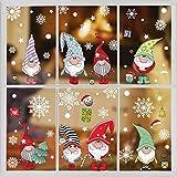 DURINM Natale Vetrofanie Addobbi Natale Adesivi Rimovibile Adesivi Murali Fai da Te Finestra Sticke Natale Vetrofanie Display Rimovibile Adesivi (B)