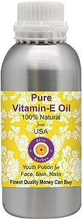 Deve Herbes Pure Vitamin E Oil 100% Natural Therapeutic Grade for Skin & Hair 1250ml.