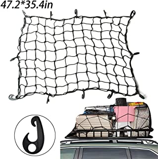 INHEMING Auto Netz, Elastisch Nylon Kofferraumnetz mit 12 Haken für Die Meisten Arten von Autos  47.2X 35.4in