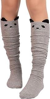 Calcetines, Moda Mujer Gato de Dibujos Animados sobre los Calcetines de Rodilla Alta