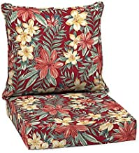 Arden Selections 2-Piece Clarissa Tropical Elegant Stylish Outdoor Deep Seat Cushions in Red, Measures 46.5