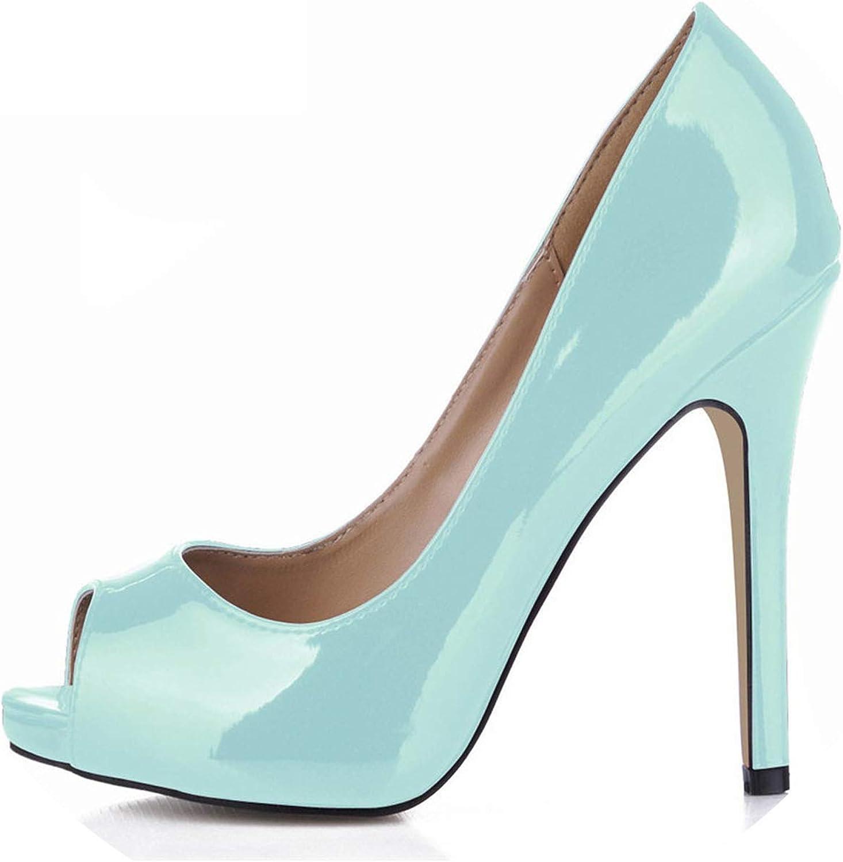 Crossdresser shoes Woman 11 cm Thin Heels Pumps Peep Toe Sandals