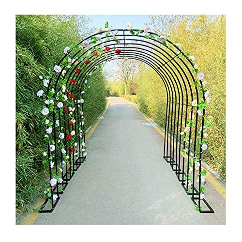 Gnova Arco de Jardín Pérgola Cenador,Arco Desmontable,para Plantas trepadoras Rosas,decoracione Elegantes para Bodas,Fiestas Nupciales,con Accesorios de Metal