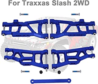 Hobbypark Aluminum Suspension Arms,Front & Rear, w/Tie Bar Replacement of 2555 3631 for Traxxas Slash 2WD 1/10 (Navy Blue)