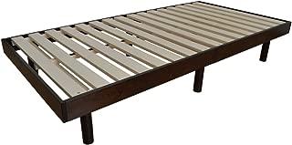 すのこベッド 天然木 シングルベッド 3段階高さ調節 ブラウン 床下収納 通気性 面取り加工 組立式 耐荷重200kg 選べる2カラー softly fragrant(ソフティ フレグラント)