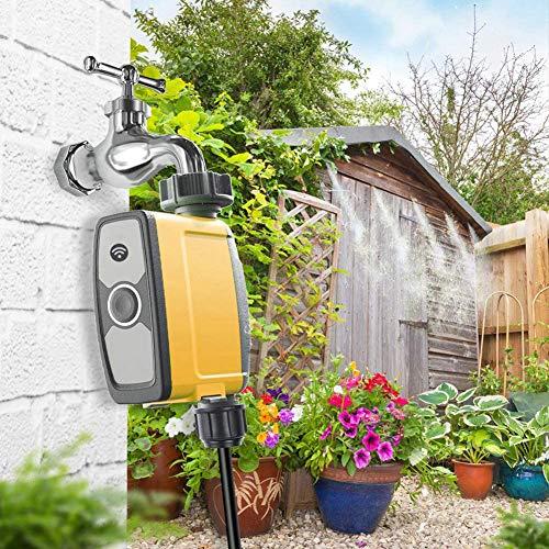 NXW Regulador de la irrigación del jardín WiFi regulador de riego,Inteligente Digital Impermeable del Contador de Tiempo del Agua