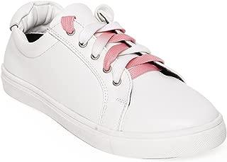 Bruno Manetti Women White Faux Leather Sneakers