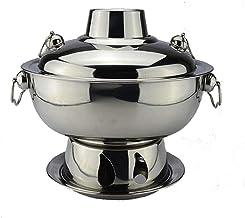 ZFQZKK Chaudière en acier inoxydable Petite chaudière à pompiers petite capacité conjointe Pékin vieux hotpot restaurant p...