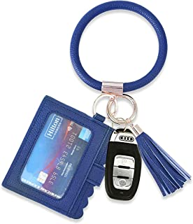 Coolcos Keychain Wallet Upgraded ID Card Holder Pouch Keyring Wristlet Bracelet Lanyard key Chain Coin Purse key Ring Women