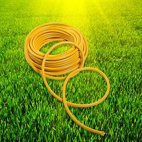 Alaskaprint Wasserschlauch Gartenschlauch Bewässerung Schlauch Gelb 3 lagig 3/4 Zoll 20 Meter 19mm aus robustem Kreuzgewebe