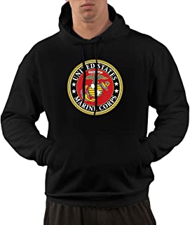 USMC with United States Marine Corps US EGA Military Men's Hoodie Sweatshirt,Pullover Hooded,Sweatshirt