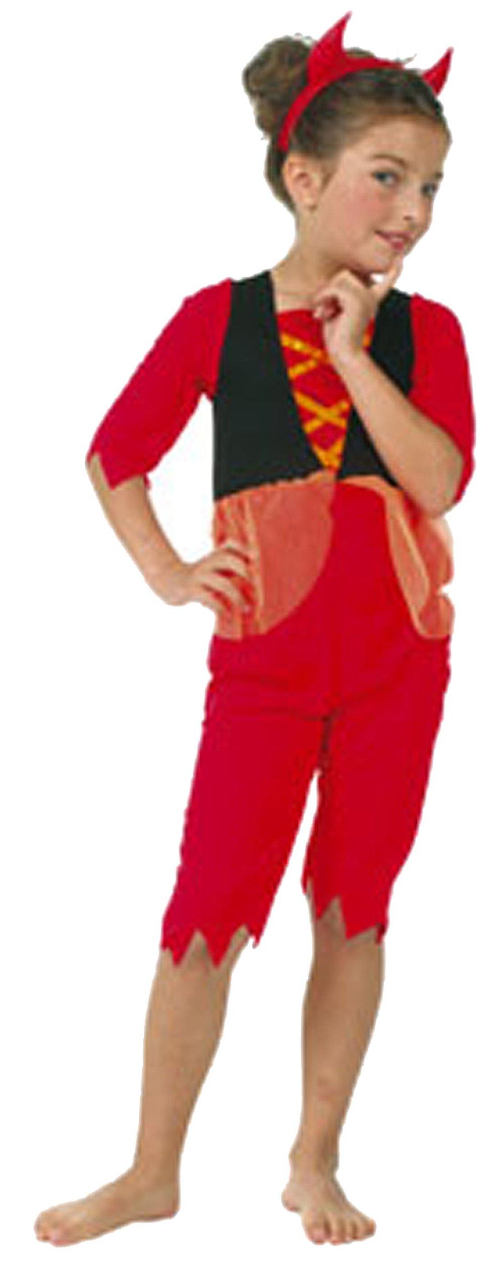 César 25828216 - Disfraz de diabla para niña (5 años) (talla 116 ...