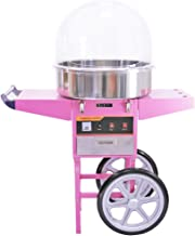Barbe à papa machine / Cotton Candy Maker avec panier rose électrique et acrylique Dome