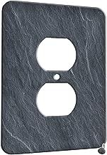Slate Grey Pattern on Metal Wallplate Cover - 2 Gang Switch