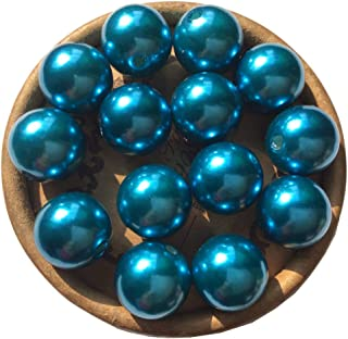 EmmaGreen ABS Pearls Simulated Bead Dark Blue Tiny Luster Acrylic Pearl Round Beads Assortment Lot for Jewelry Making or Vase Filler