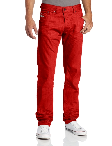 Diesel - - Herren Darron Slim Jeans in Maroon / Rot, 31W x 32L, Maroon/Red