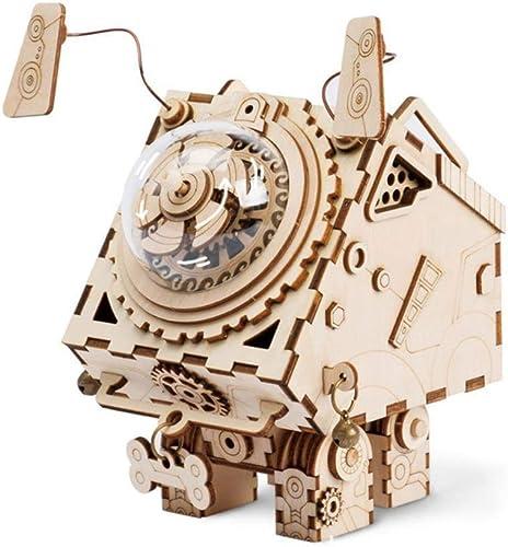 DYMAS Déco Maison Bois Artisanat décoration Boîte à Musique mécanique