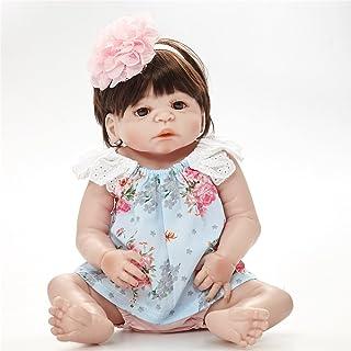 PKJOkmjko 全硅胶乙烯基重生婴儿娃娃现实女孩婴儿娃娃23寸58厘米逼真公主儿童玩具儿童生日礼物