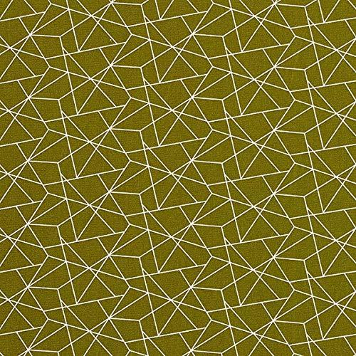 Baumwollstoff Popeline Grafisch – khaki — Meterware ab 0,5m — zum Nähen von Bettwäsche, Kissen/Tagesdecken & Tischdecken