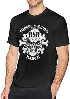 BXNOOD Mens Vintage Broken Skull Ranch Tshirt M Black
